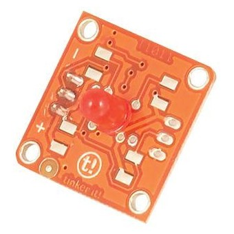 Module Led Rouge 5MM TINKERKIT T010114 pour Arduino