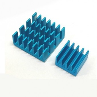 Set de 2 Heat Sink Aluminium Bleus