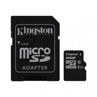 Carte MicroSD Kingston SDC10/16GB