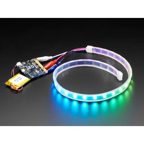 Bande LED Adafruit pinces alligator