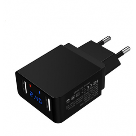Caricabatterie 5V 2.4A Dual USB