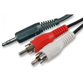CABLE AUDIO 3.5MM ST VERS 2X 1.8M