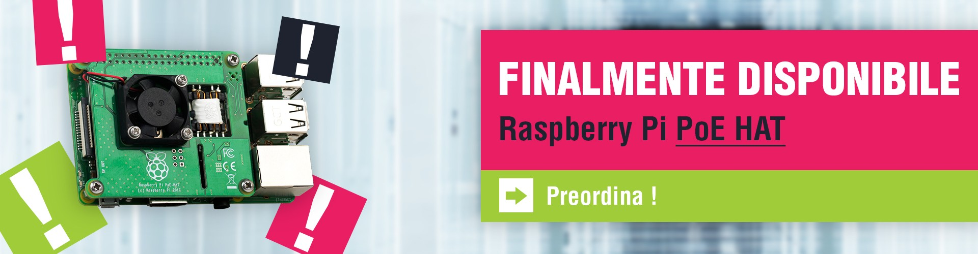 Finalmente disponibile Raspberry PoE Hat
